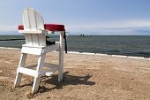 Empty Life Guard Chair