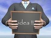 Businessman idea - 3D render