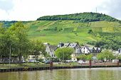 Moselle Waterfront Of Ellenz Poltersdorf Village