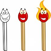 Match Stick Cartoon Characters 4. Collection Set