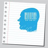 Bar code in head
