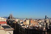 Panorama Of Barcelona. Sagrada Familia.