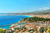 Panoramic View Of Nice, Mediterranean Resort