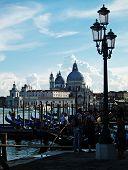 Venice: sunset at the Madonna della Salute Church