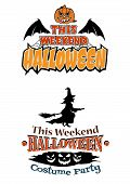 This Weekend Halloween Party theme designs