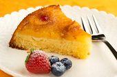 slice of pineapple cake