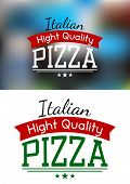 Italian pizza label or banner
