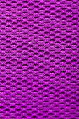 Synthetic Magenta Cloth. Grid Closeup. Macro