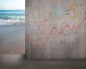 Move Doodles Concrete Wall Away With Beach View