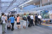 Commuters at JR Osaka Train station Japan