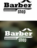 Retro barber shop emblem