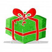 cartoon christmas present
