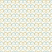 Vector Seamless Pattern Curve And Wavy