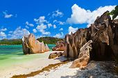 Tropical Island Curieuse At Seychelles