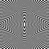 Design Monochrome Movement Illusion Checkered Background