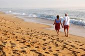 Couple Walking On Beach 2
