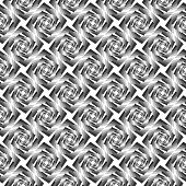 Design Seamless Monochrome Whirlpool Geometric Pattern