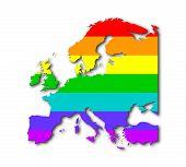 Europe - Rainbow Flag Pattern