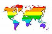 World - Rainbow Flag Pattern