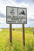 Seat Belts And Helmets Required By Nebraska State Law