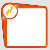 Orange Frame For Text With Screws And Flash