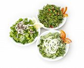 Rucola, Thyme and Basil Salad isolated