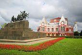 Chapaev monument and drama theater in Samara