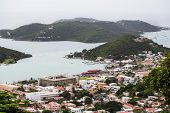 Bay And City On St Thomas In The Caribbean