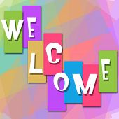 Welcome Colorful Background