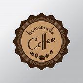 Vintage Retro Coffee Label. Vector Design.