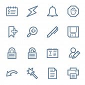 Scheduler web icons set