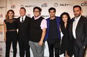 LOS ANGELES - SEP 7:  K McPhee, R Patrick, Ari Stidham. Elyes Gabel, Jadyn Wong, Eddie K Thomas at the PaleyFest 2014 Fall TV Preview - CBS at Paley Center on September 7, 2014 in Beverly Hills, CA