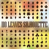 110 leaves silhouette
