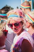Thousands Of People Take Part In The Color Run 2014 In Milan, Italy
