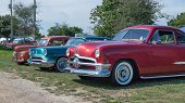 Three Vintage Cars, Frankenmuth Auto Fest
