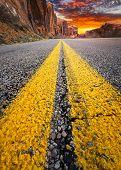 Desert Road To The Sunset