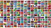 Flags Of The World Isolated On White