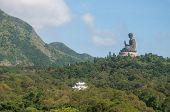 Hongkong-July 4,2014: Tian Tan Buddha or Giant buddha on Lantau Island
