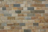 Masonry Of Multicolored Sand Stones