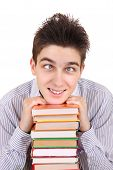 Funny Teenager With The Books