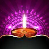 Vector diwali diya background