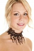 Close Up Choker Beads Lace