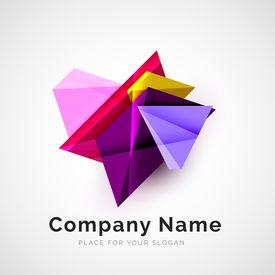 stock photo of logo  - Geometric shape icon - JPG