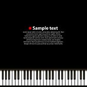 Piano background art music banner