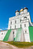 stock photo of trinity  - Classical Russian ancient religious architecture example - JPG