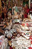 Flea Market El Rastro In Madrid