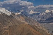 picture of shan  - Amazing high altitude landscape on Engilchek glacier in Tian Shan mountain range in Kyrgyzstan - JPG