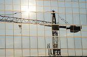 Reflection Of A Crane