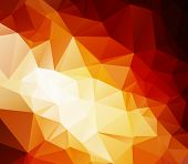 Fire Polygonal Mosaic Background, Vector Illustration,  Business Design Templates
