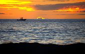 Maui Sunset with boat